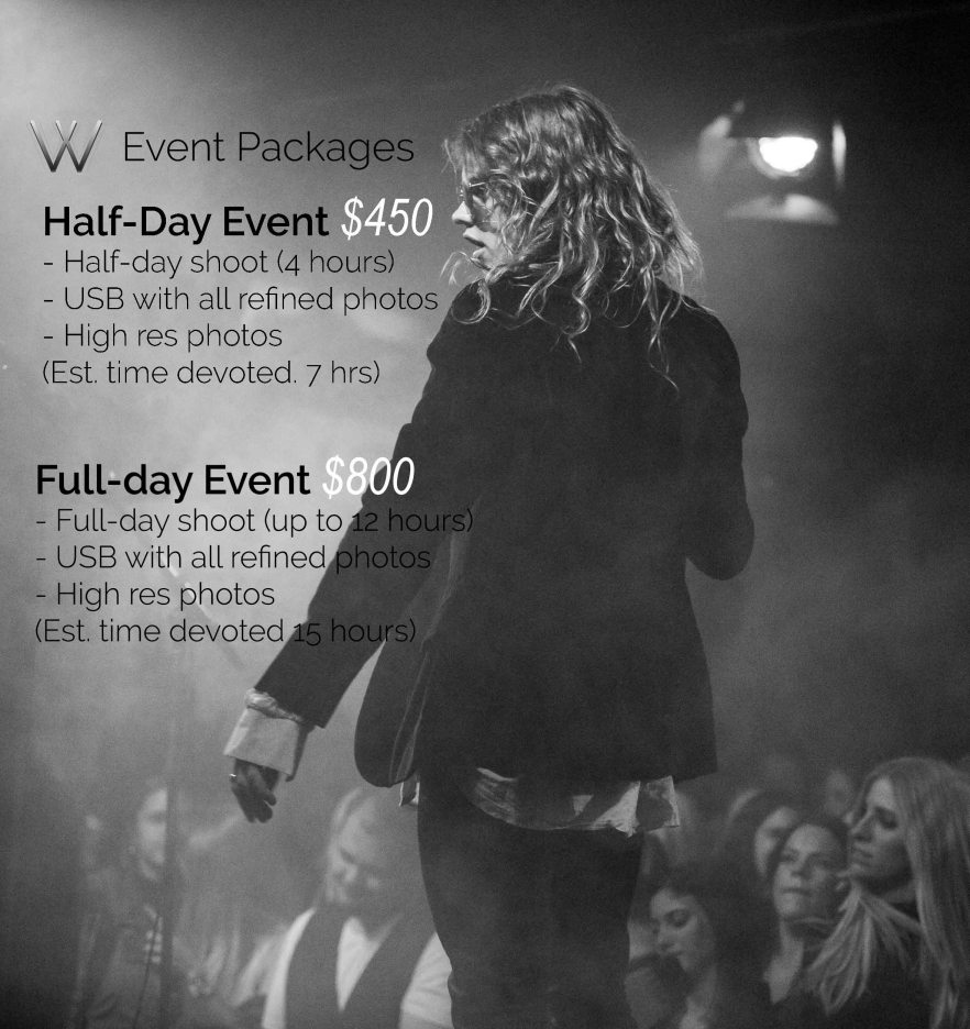 Pricing Package - Event
