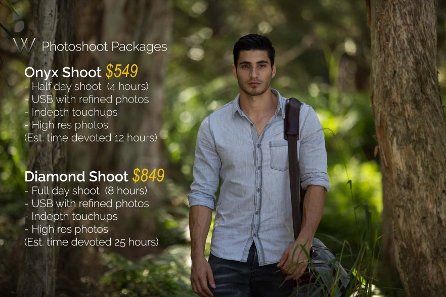 Pricing Package - Photoshoot Guy